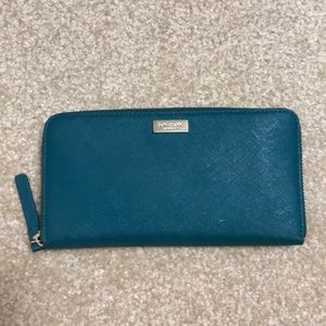Kate Spade Wallet. Green. New, barely used.